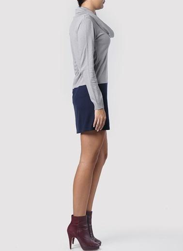 Asymmetry Elbise Gri